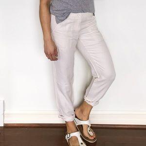 J.Crew Linen Cotton Pants Cream 81326